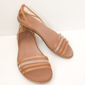 Croc brand strappy flat sandals